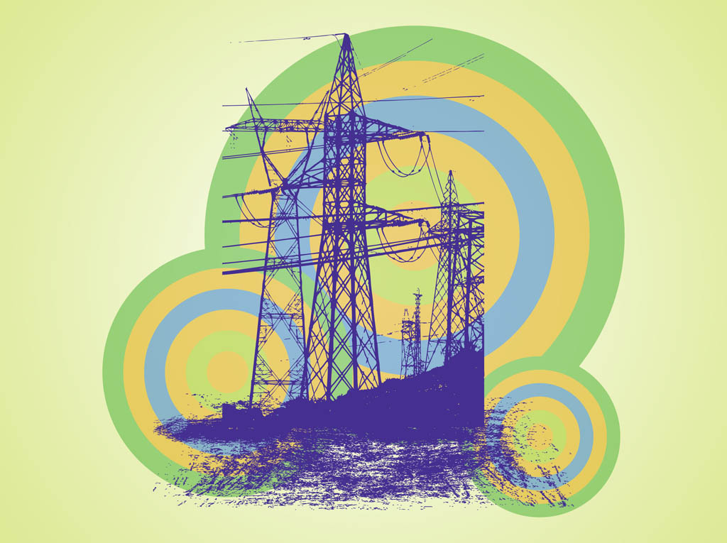 Transmission Tower Vector Art & Graphics