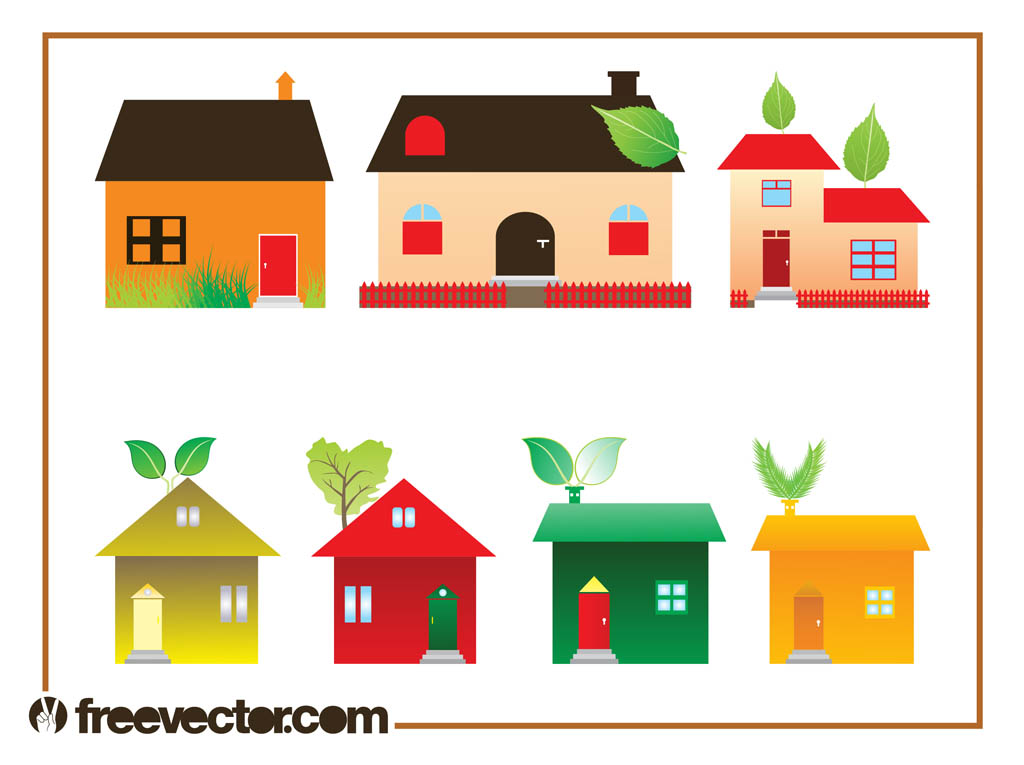 Eco House Graphics Set