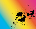 Rainbow Splatter Vector