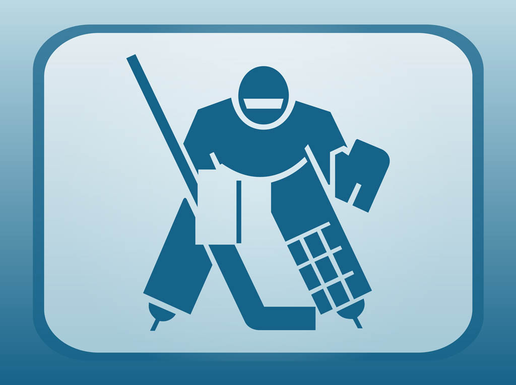 Hockey Player Icon Vector Art Graphics Freevector Com