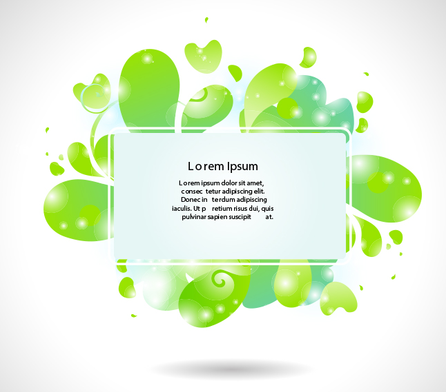Modern Green Bubble Banner Vector