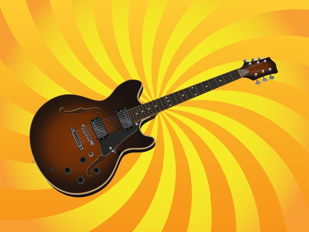 Guitar Illustration Vector Art & Graphics | freevector.com