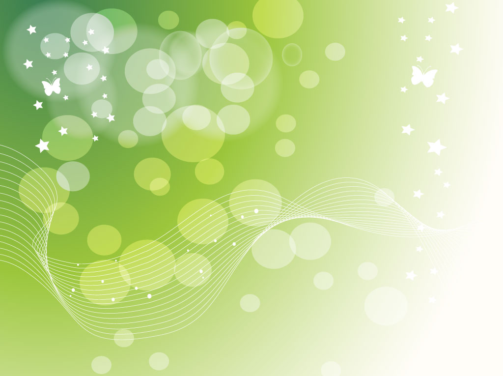 Green Stars Dots Background