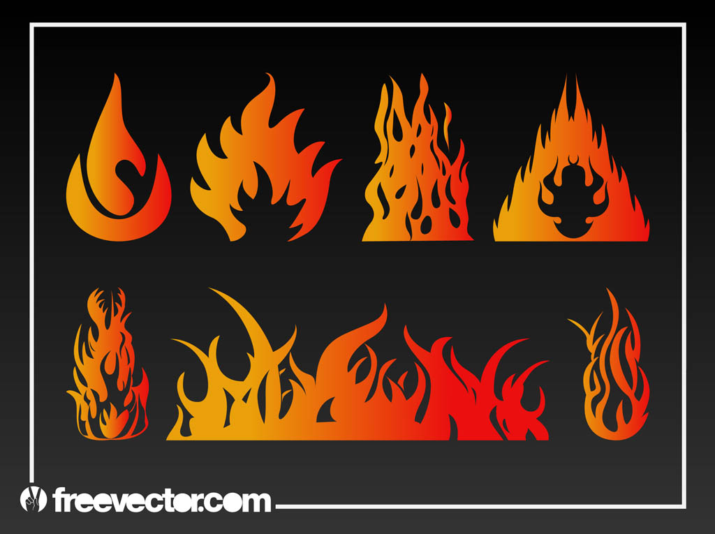 Flames Vector Graphics