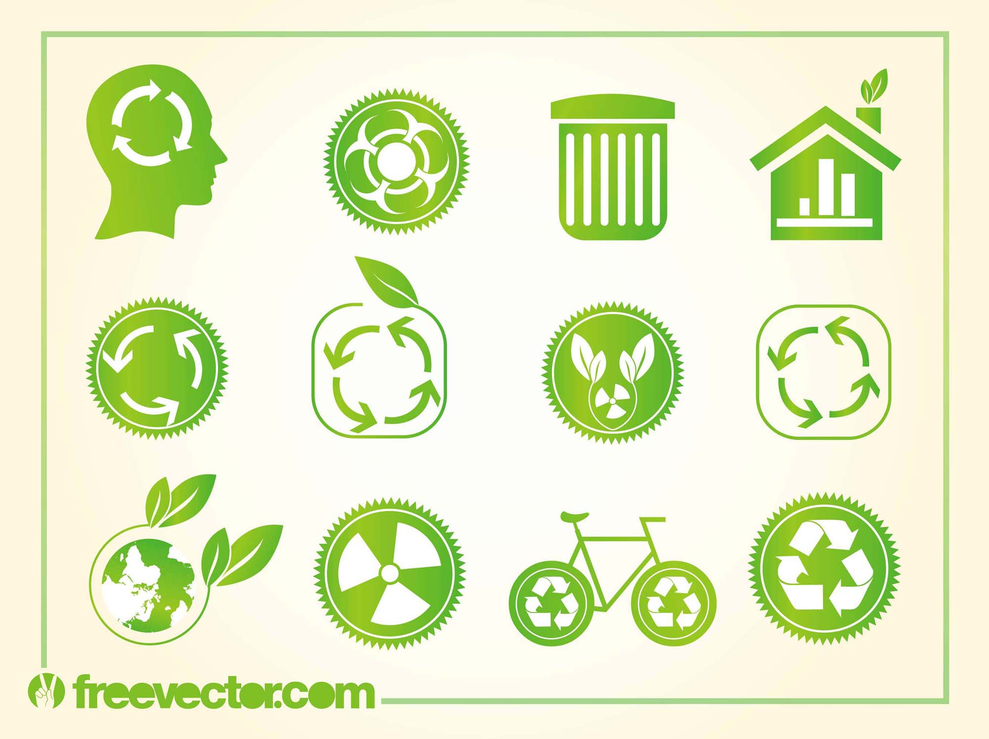 Recycling Logos Vector Art Graphics Freevector