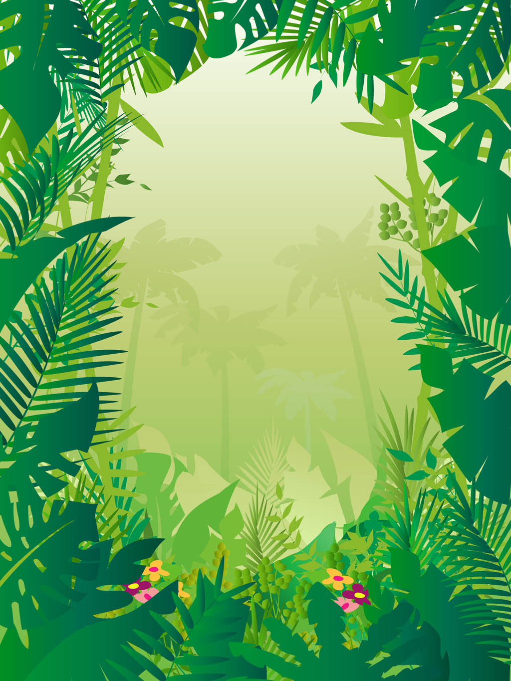 Jungle Background Vector Art Graphics Freevector Com
