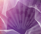 Abstract Purple Flowers Vector