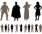 People Silhouettes Designs Pack