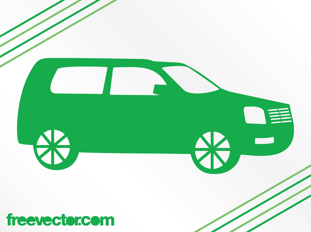 Green Suv Silhouette Vector Art Graphics Freevector Com