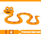 Happy Cartoon Snake