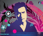 Charlie Sheen Vector Art