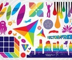 Colorful Vector Clip Art Graphics
