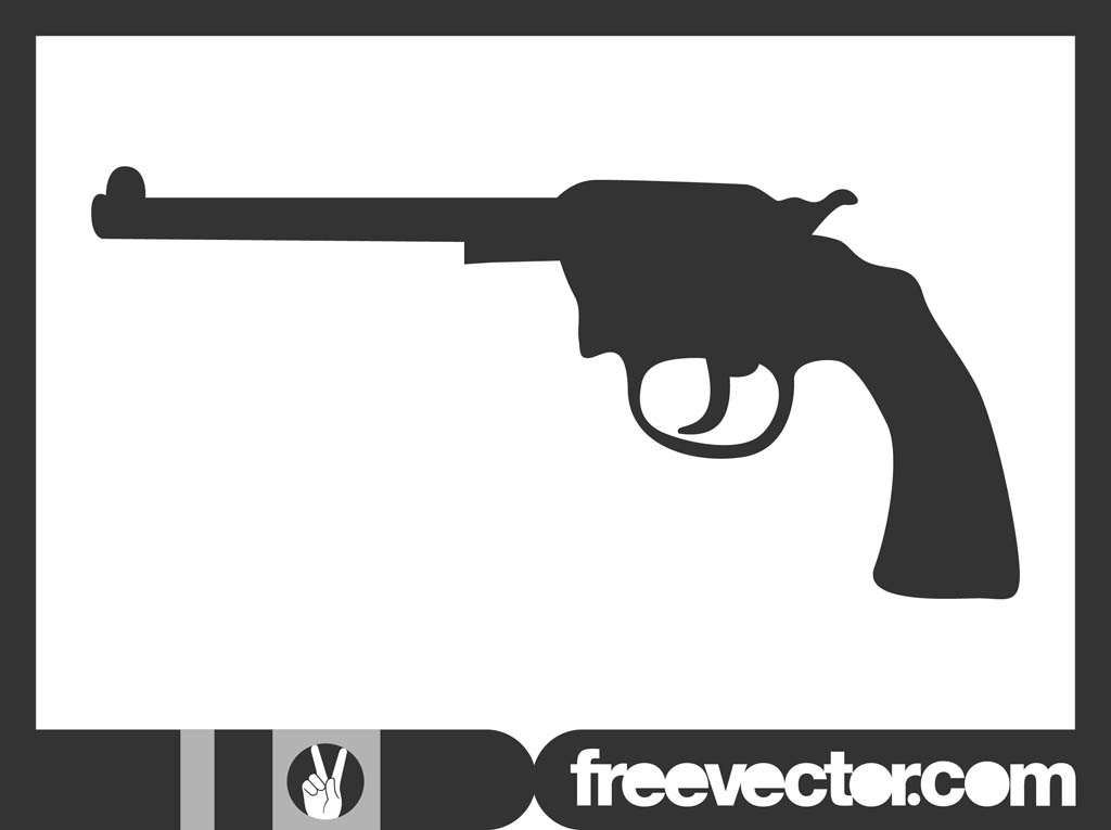 Gun Silhouette Graphics Vector Art & Graphics | freevector.com