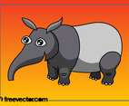 Cartoon Tapir Character