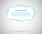 Fluffy Cloud Vector