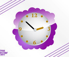 Purple Clock Vector
