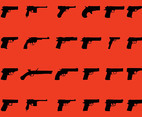 Handguns Vector Graphics Set