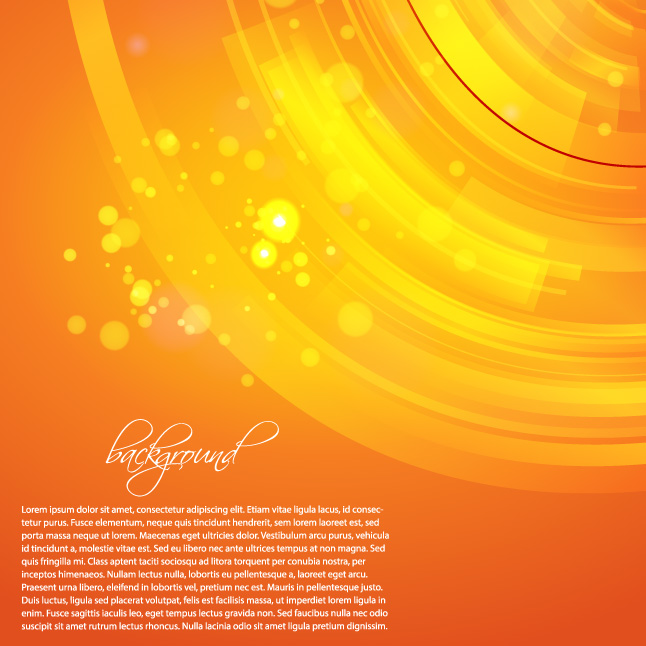 Glowing Orange Background Vector