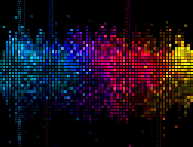 Bright Abstract Media Background Vector