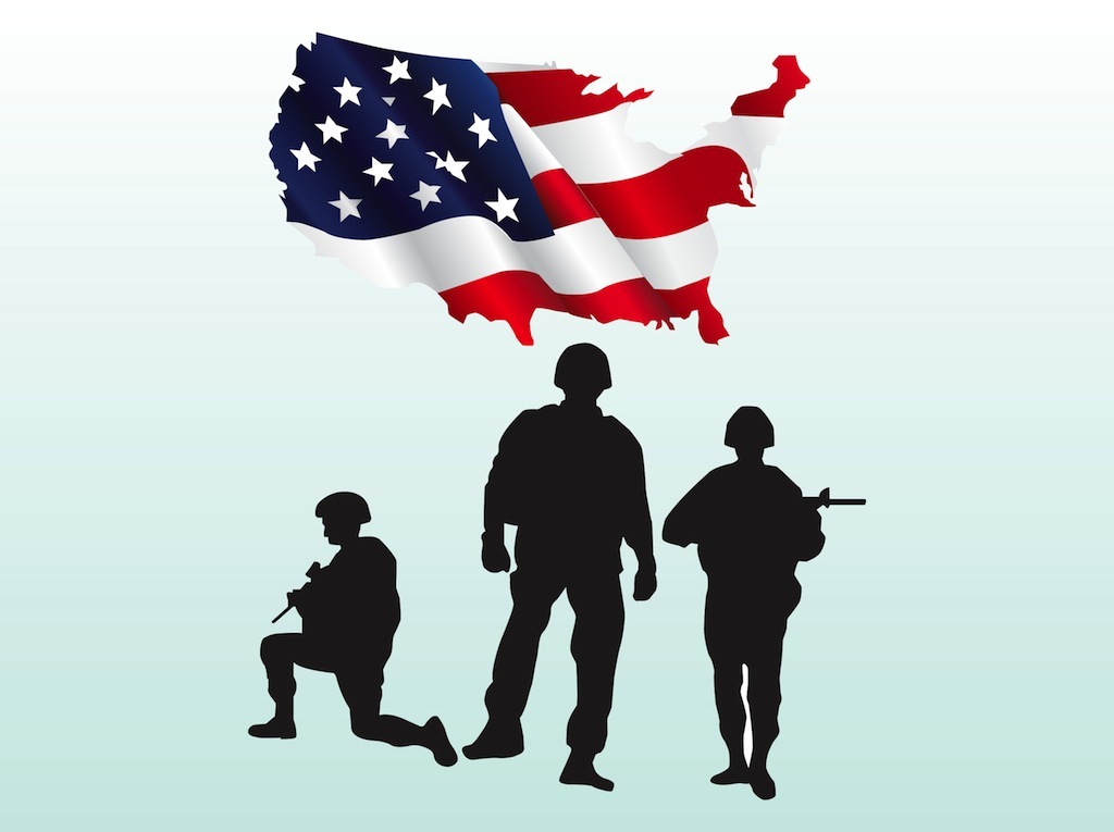 US Soldiers Vectors
