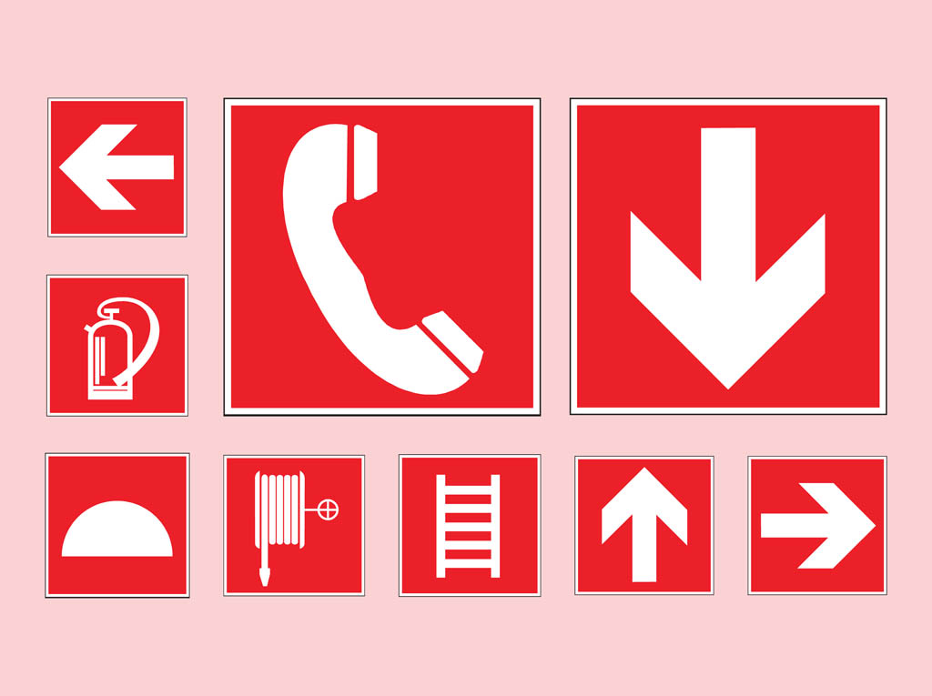 Emergency Symbols Vector Art Graphics Freevector