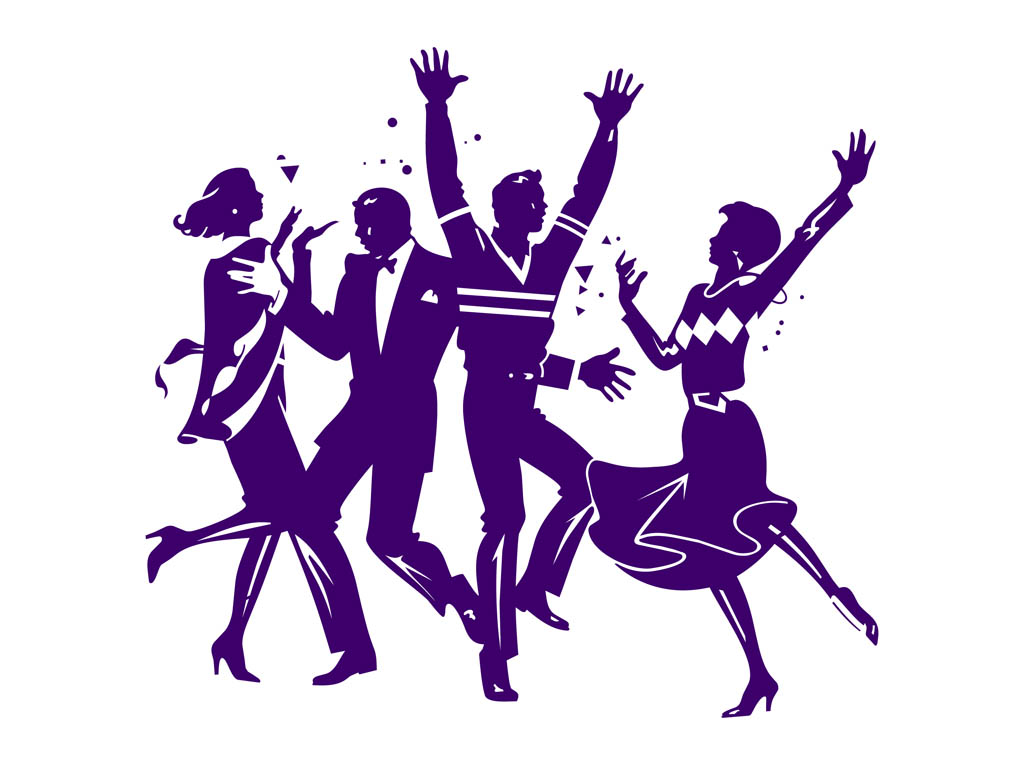 Dancing Party People Graphics Vector Art & Graphics ...