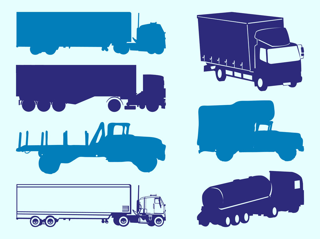 Trucks Silhouettes Graphics