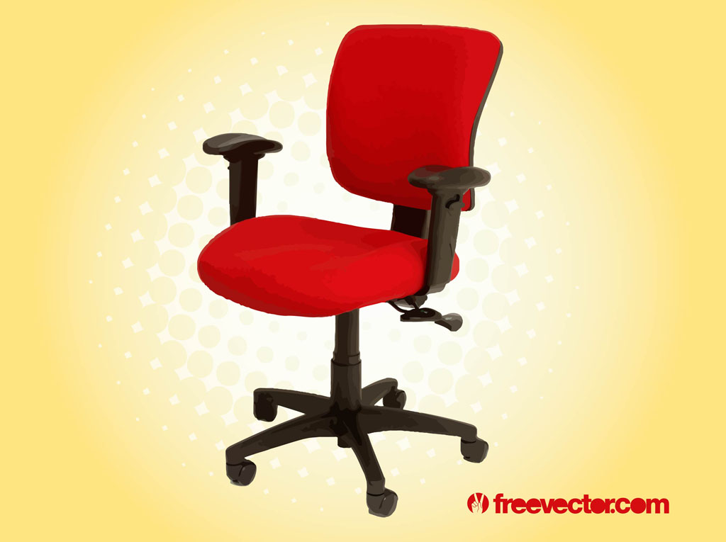 Red Office Chair Vector Art Graphics freevectorcom