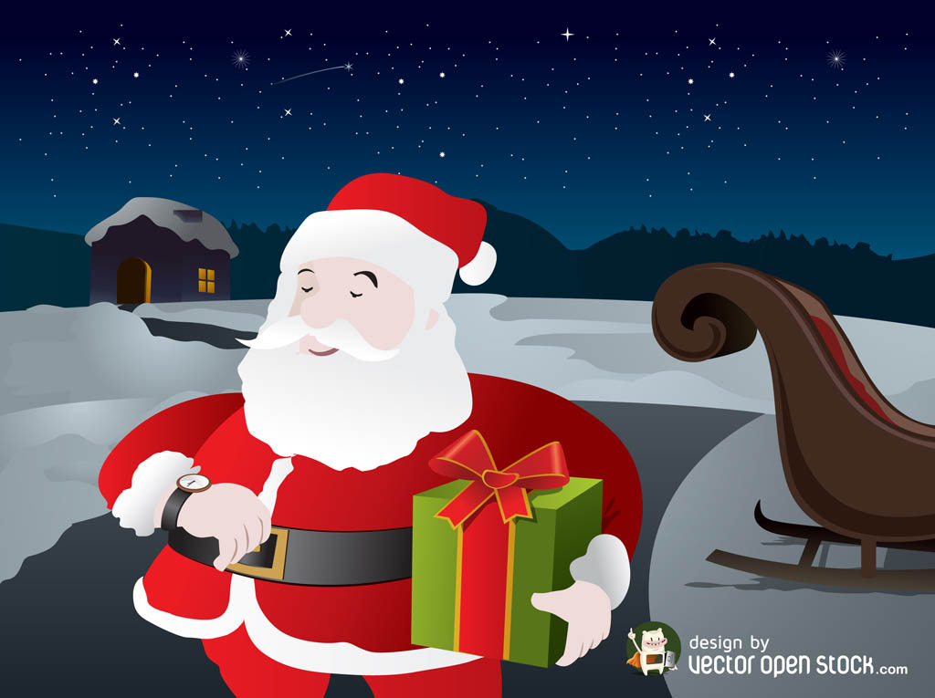 Santa Vector Graphics