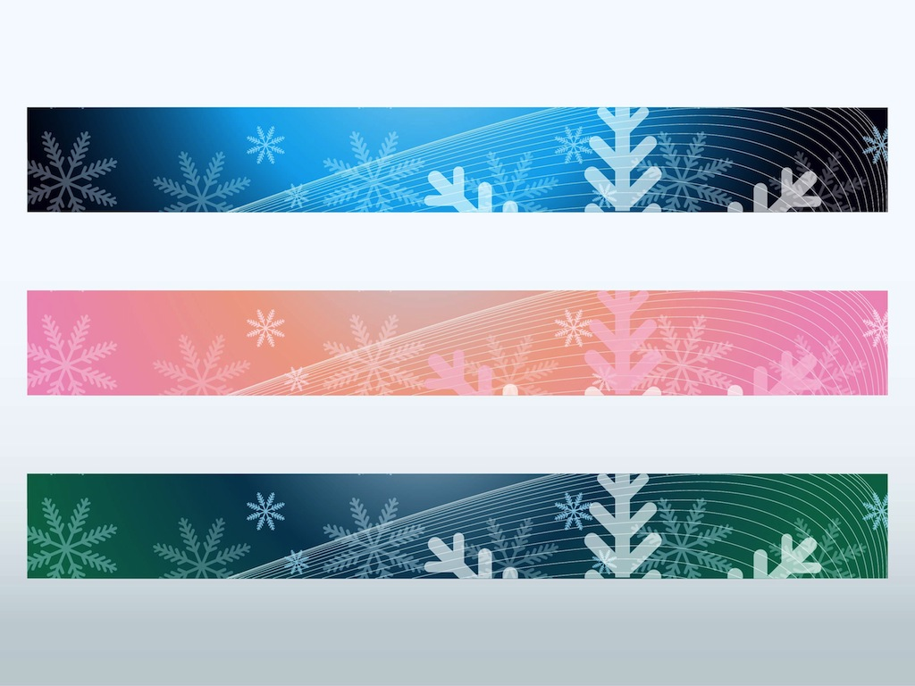 Free Vector Illustration Juniper: Snowflake Banners Vector Art & Graphics