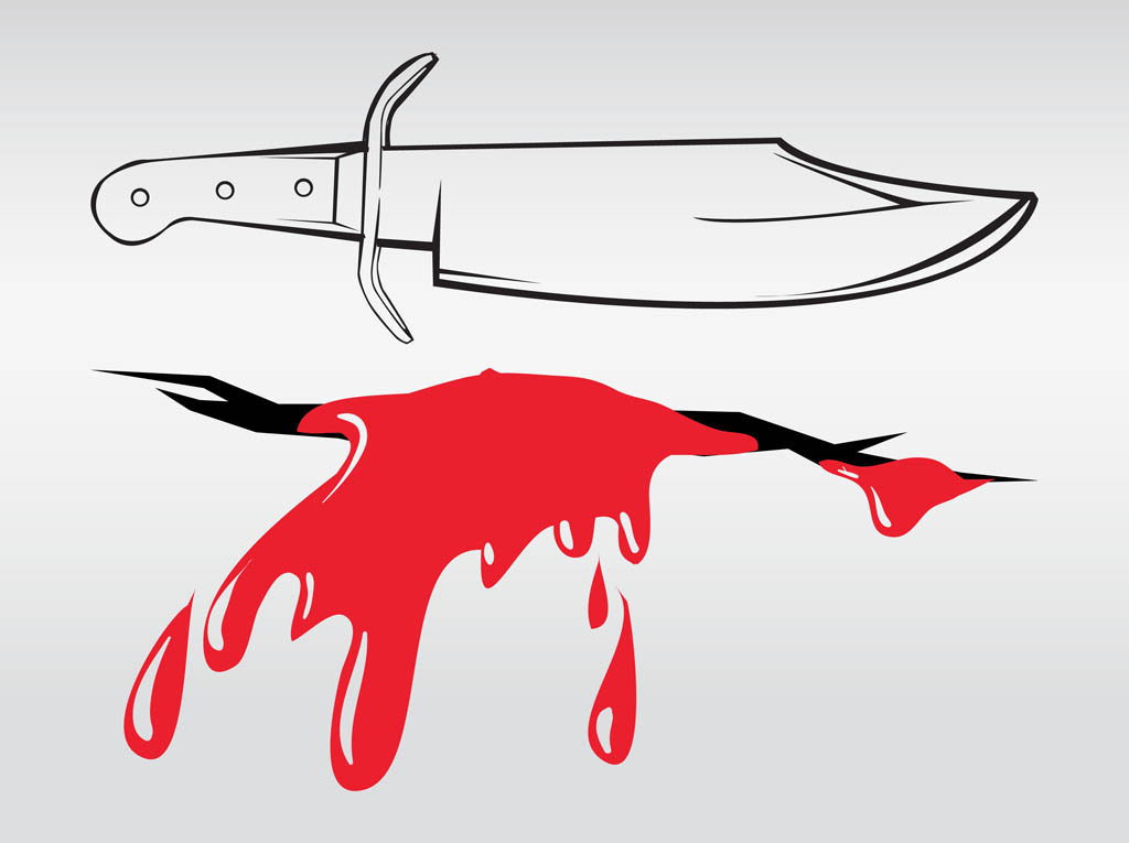 Knife And Wound Vector Art & Graphics