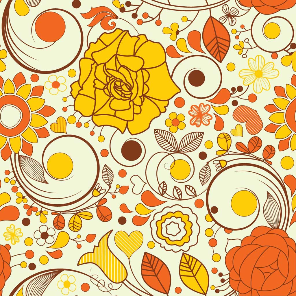 Autumn Flowers Wallpaper Vector Art Graphics Freevector Com