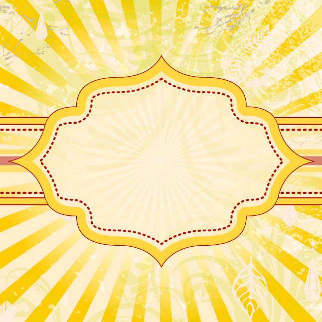Vintage Sunburst Label Vector