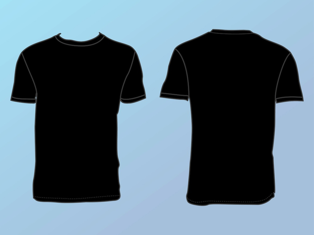 basic t shirt template vector art graphics. Black Bedroom Furniture Sets. Home Design Ideas