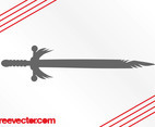 Antique Sword Silhouette