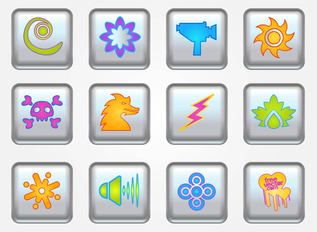 Buttons Vector Icons
