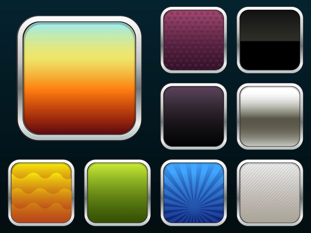 I os app icons vector art graphics for Iphone app logo template