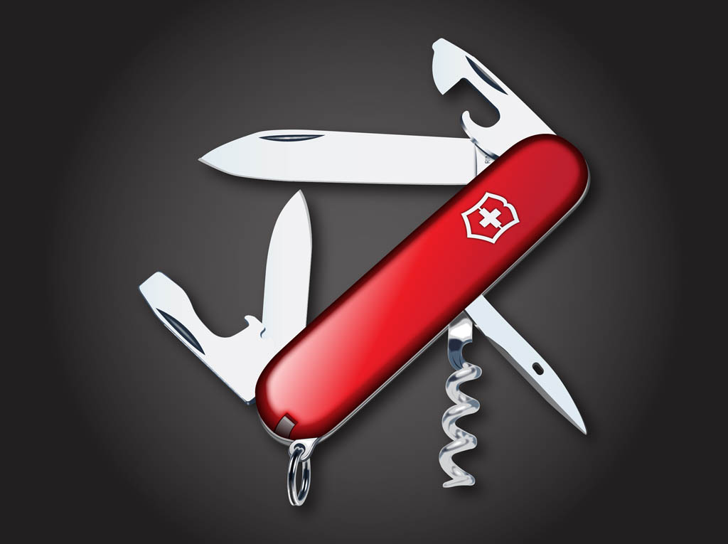 Swiss Army Knife Vector Vector Art Amp Graphics Freevector Com