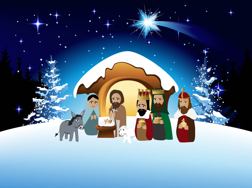Nativity Scene Clip Art, Vector Images &amp- Illustrations - iStock