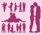 Couples Vector Silhouettes