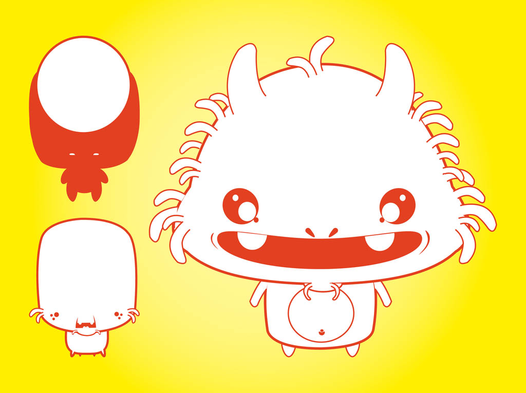 Cute Vector Monster Illustrations
