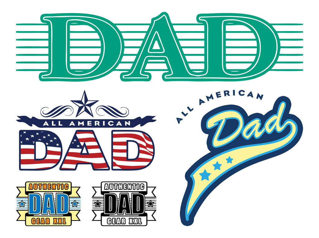 Dad Stickers Graphics