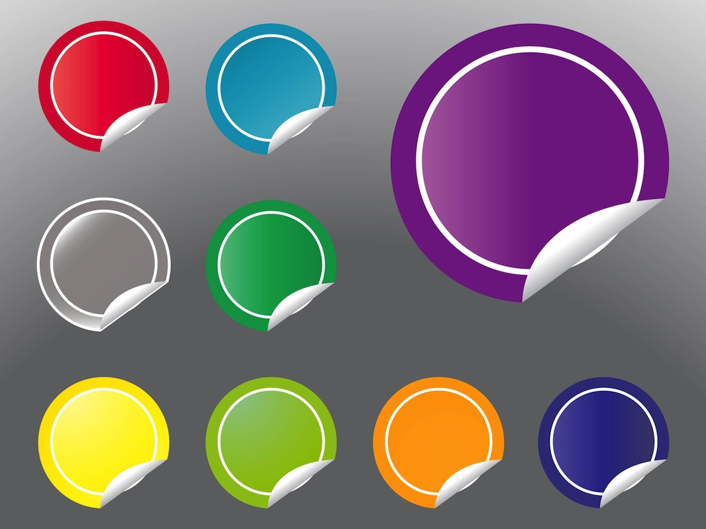 Round Stickers Vector Art & Graphics   freevector.com