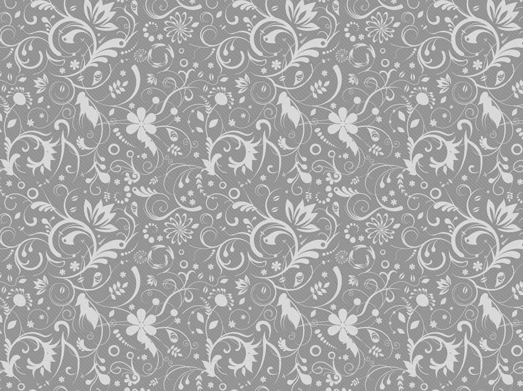 Gray Floral Pattern Vector Art Amp Graphics Freevector Com