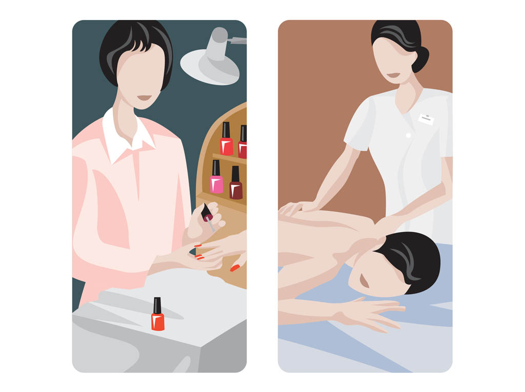 Massage And Manicure Designs