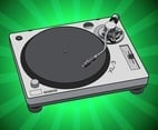 Simple Turntable Vector