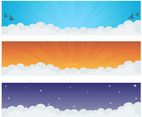 Sky Cloud Vector Banners