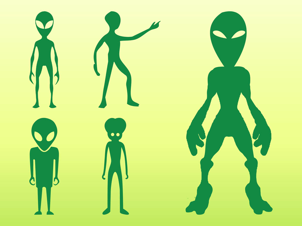 Aliens Silhouettes Set