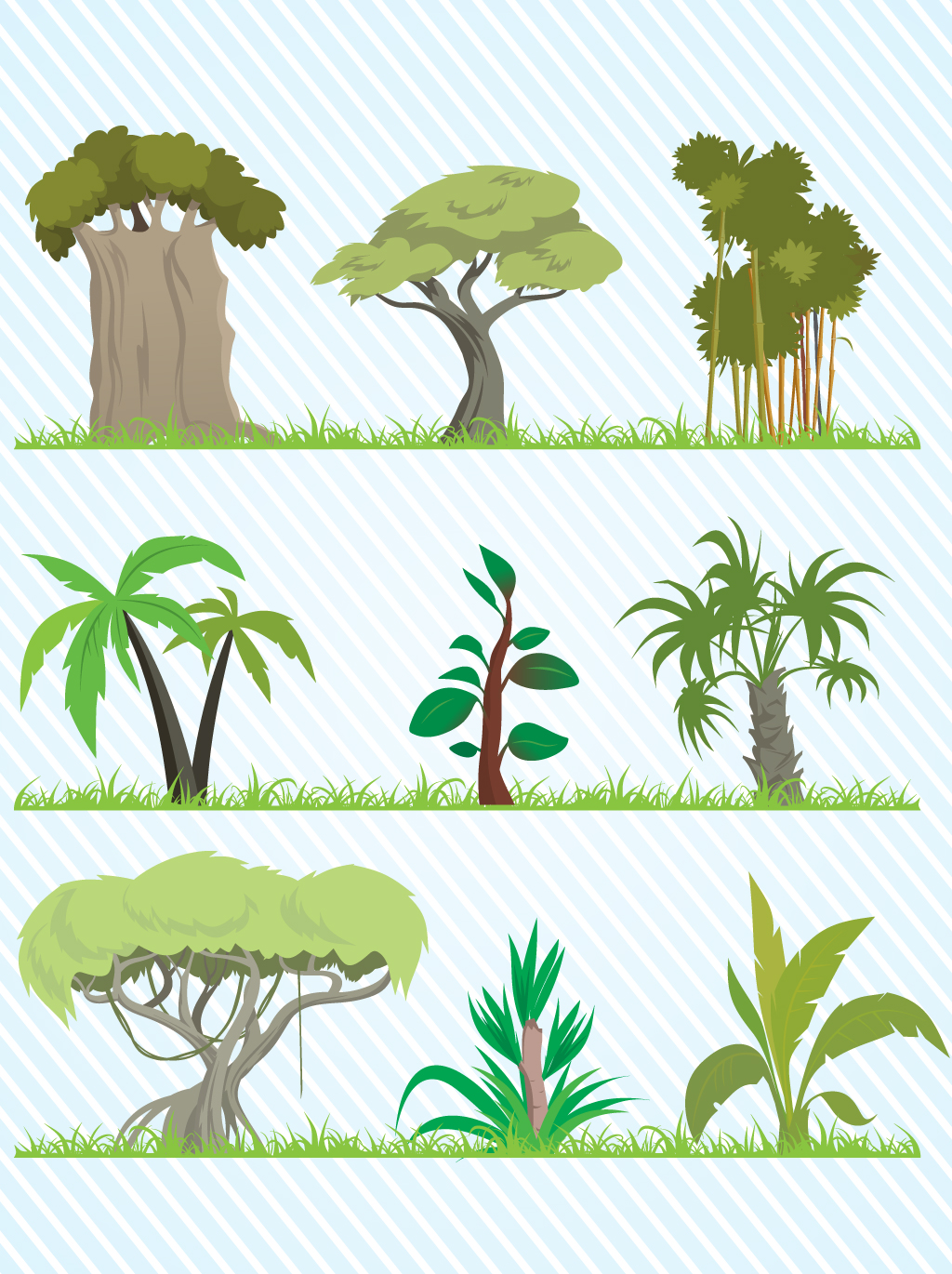 Jungle Trees Cartoon