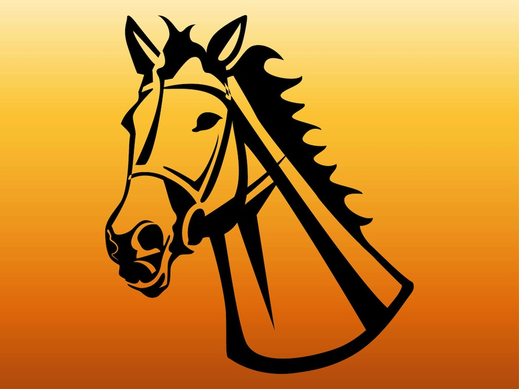 Horse Head Vector Art Graphics Freevector Com